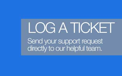 Log a ticket to get help with our expert support agents