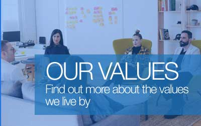 Find out more about the values we live by.