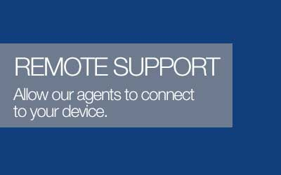 Get remote support from our expert support agents.